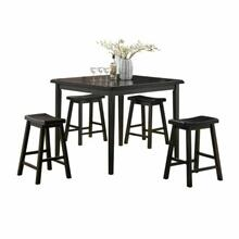 ACME Gaucho 5Pc Pack Counter Height Set - 07288 - Black