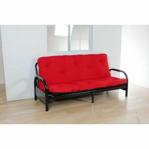 "ACME Nabila Full Futon Mattress - 02812 - 8""H - Red & Black"