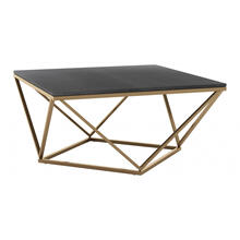See Details - Verona Marble Coffee Table Black & Gold