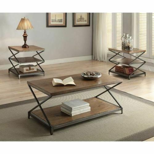 Acme Furniture Inc - ACME Fabio Coffee Table - 80445 - Oak & Antique Black