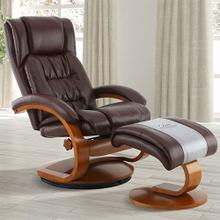 Narvick Recliner & Ottoman in Whisky Air Leather
