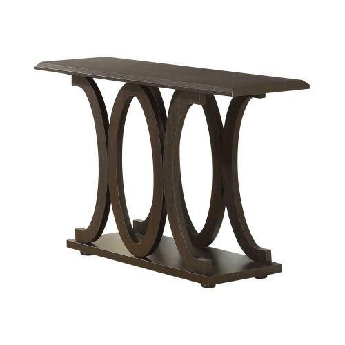 Casual Cappuccino Sofa Table