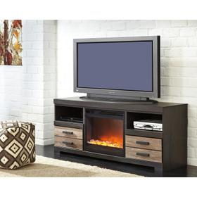 See Details - Harlinton LG TV Stand W/Fireplace Insert Two-Tone