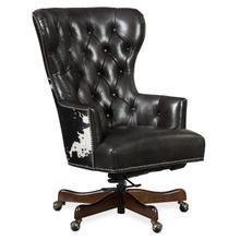 Home Office Katherine Executive Swivel Tilt Chair w/ Black & White HOH