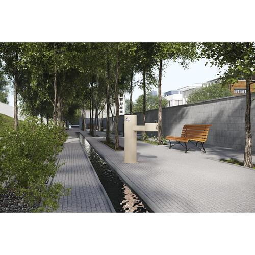 Elkay - Elkay Outdoor Fountain Bi-Level Pedestal Non-Filtered, Non-Refrigerated Beige