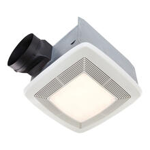 Broan® QTXE Series 80 CFM Ventilation Fan Light, 36W Fluorescent Lighting, 4W Nightlight, 0.3 Sones;