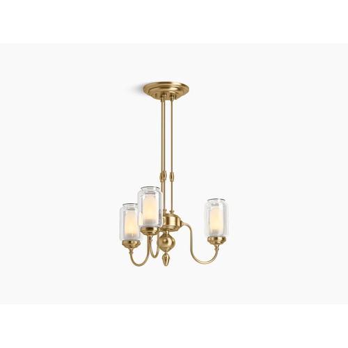 Modern Brushed Gold Three-light Chandelier