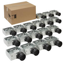 "Broan® Housing Pack for 1671F, 1688F, E0F70, 696RNB and 695RB (damper and 4"" plastic duct connector included)"