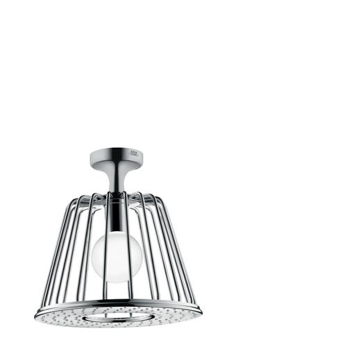Polished Black Chrome LampShower 275 1jet with ceiling connector