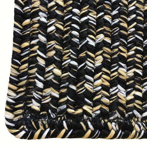 Team Spirit Black Gold Braided Rugs