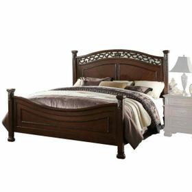 ACME Manfred Queen Bed - 22770Q - Dark Walnut