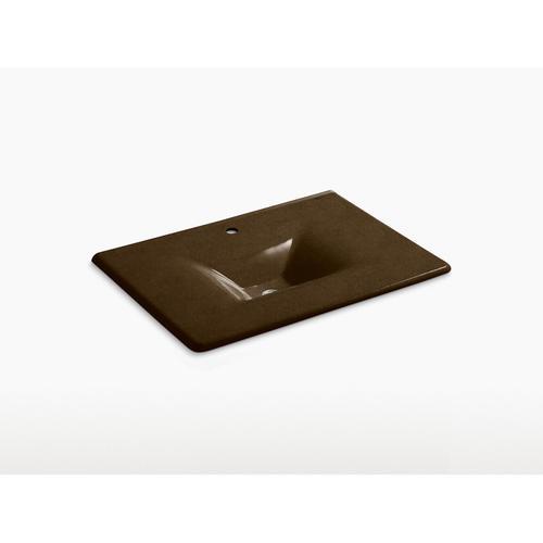 """Black 'n Tan 31"""" Vanity-top Bathroom Sink With Single Faucet Hole"""