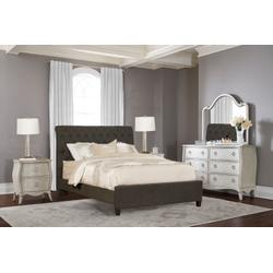 Napleton Queen Bed - Onyx Linen