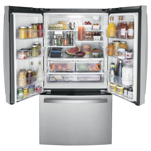 Gallery - GE® ENERGY STAR® 27.0 Cu. Ft. Fingerprint Resistant French-Door Refrigerator