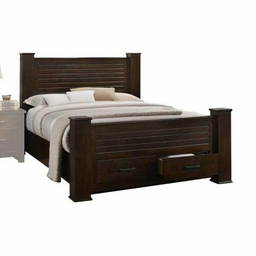ACME Panang California King Bed w/Storage - 23364CK - Mahogany