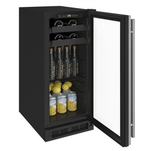 "15"" Beverage Center With Stainless Frame Finish (115 V/60 Hz Volts /60 Hz Hz)"