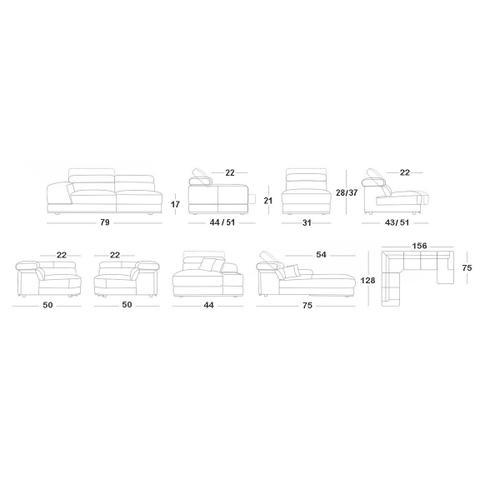 VIG Furniture - Divani Casa Chrysanthemum - Modern White Leather U Shaped Sectional Sofa