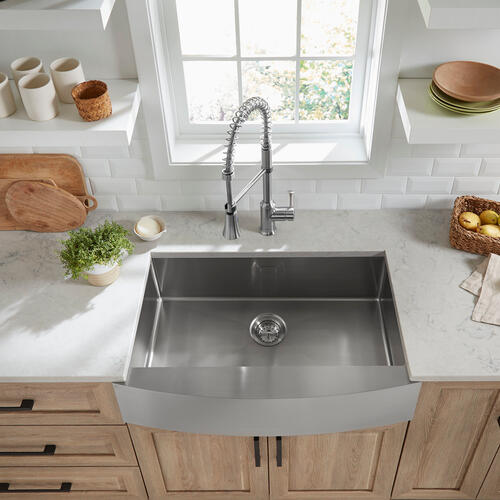 Pekoe 33x22-inch Stainless Steel Farmhouse Sink  American Standard - Stainless Steel
