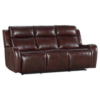 See Details - Wainwright Dual-Power Sofa  Reddish Brown