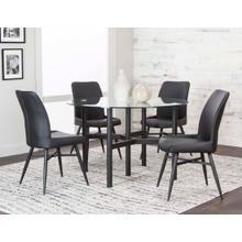 Lemans 5pc Dining Set (black)