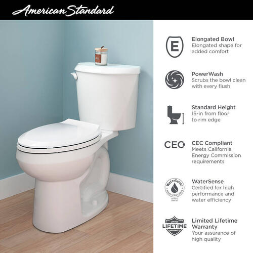 American Standard - Reliant 2-Piece Elongated Toilet  American Standard - White