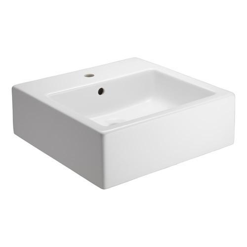 """Patricia Square Vessel Sink - 8"""" Widespread"""