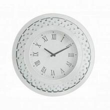 ACME Lantana Wall Clock - 97043 - Mirrored & Faux Crystals