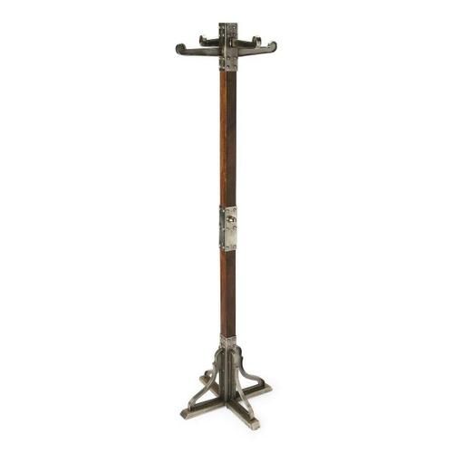 This vintage coat rack will stylishly enhance your space. Featuring an industrial chic aesthetic, it is hand crafted from iron, mango wood solids.