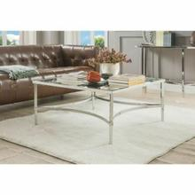 ACME Petunia Coffee Table - 80190 - Chrome & Mirror
