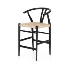 Counter Stool Size Black Teak Finish Muestra Bar + Counter Stool