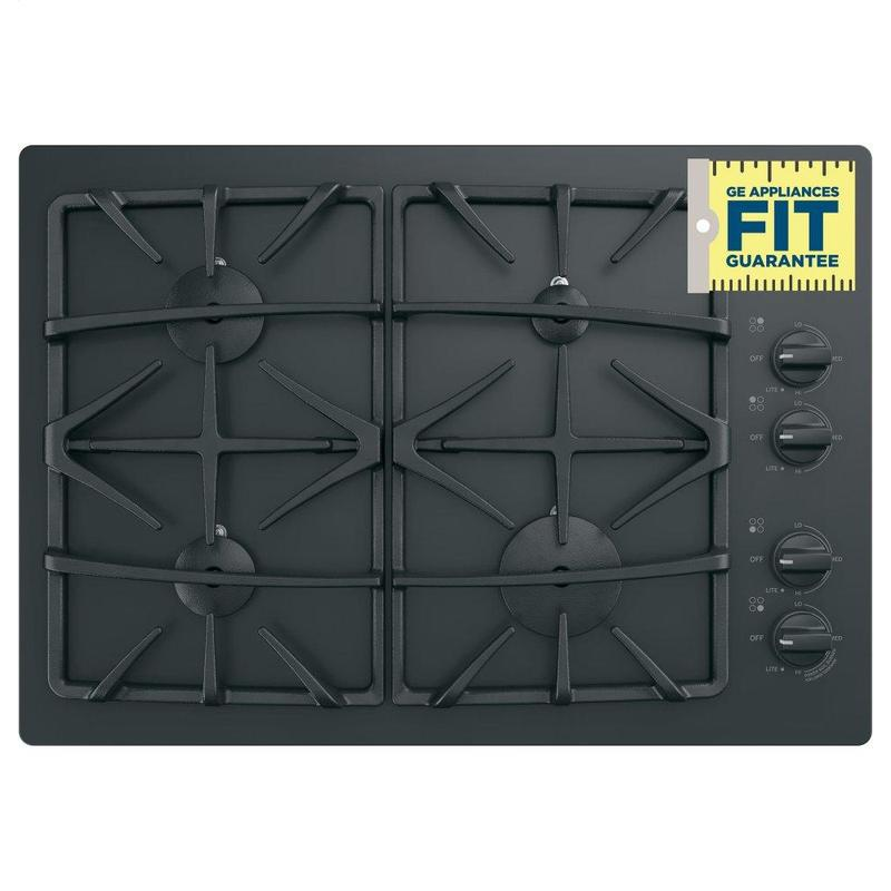 """GE® 30"""" Built-In Gas on Glass Cooktop with Dishwasher Safe Grates"""