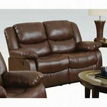 ACME Fullerton Loveseat (Motion) - 50011 - Brown Bonded Leather Match