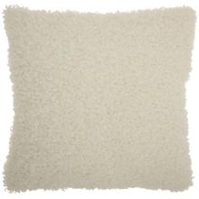 "Faux Fur Fl200 Ivory 20"" X 20"" Throw Pillow"
