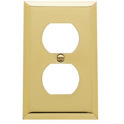 Baldwin - Polished Brass Beveled Edge Duplex