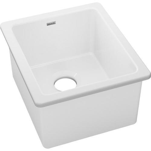 "Product Image - Elkay Fireclay 16-3/8"" x 18-7/8"" x 10-1/8"" Single Bowl Undermount Bar Sink"
