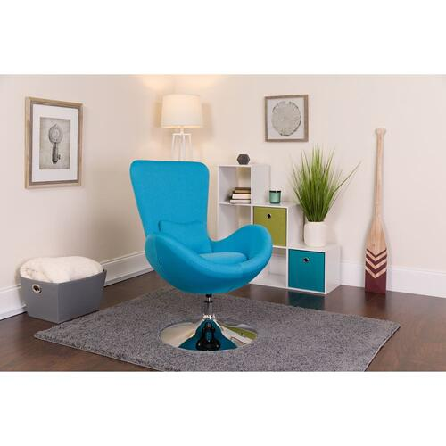 Alamont Furniture - Aqua Fabric Side Reception Chair