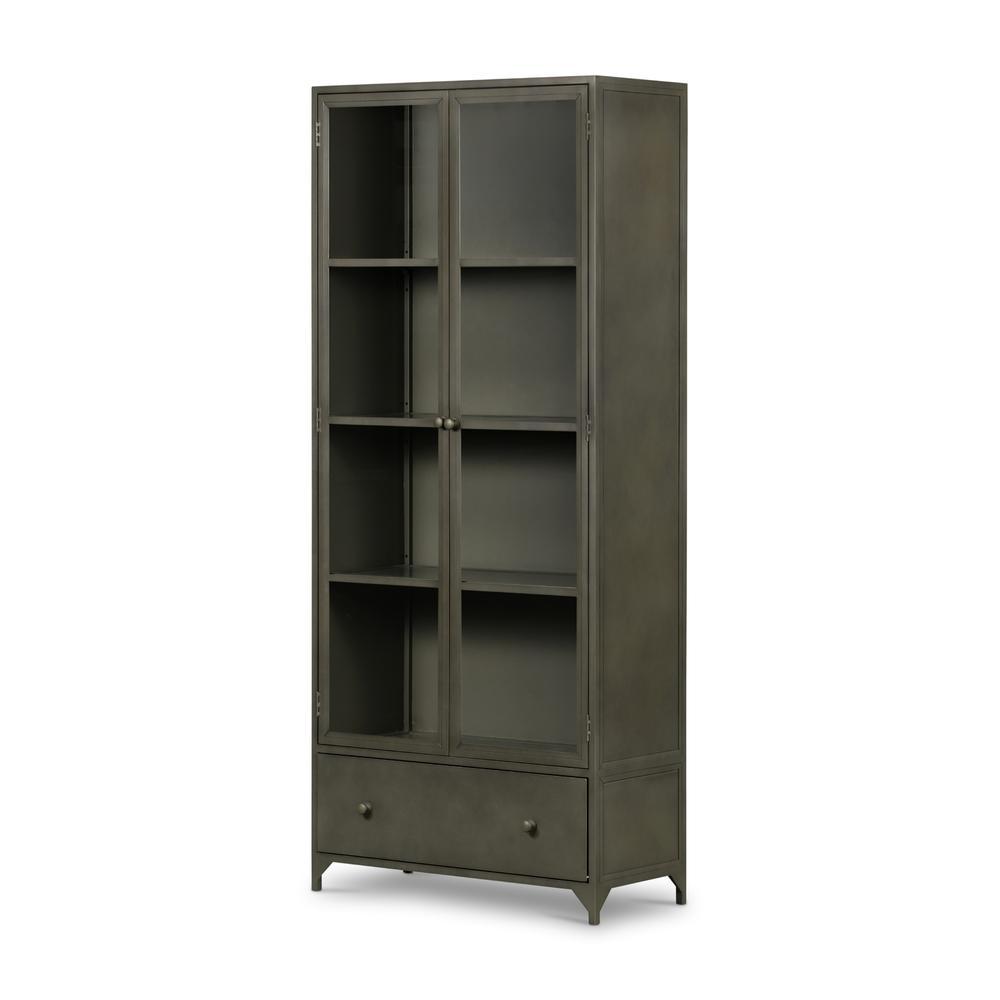 See Details - Gunmetal Finish Shadow Box Cabinet
