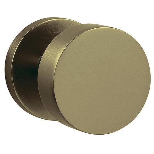 Baldwin - Satin Brass and Black 5055 Estate Knob