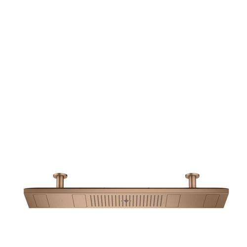 Brushed Red Gold ShowerHeaven 1200/300 4jet with lighting 2700 K