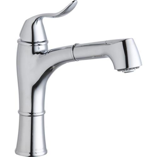 Elkay - Elkay Explore Single Hole Kitchen Faucet with Pull-out Spray Lever Handle with Hi and Mid-rise Base Options Chrome
