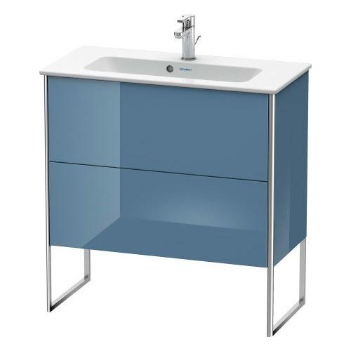 Product Image - Vanity Unit Floorstanding Compact, Stone Blue High Gloss (lacquer)