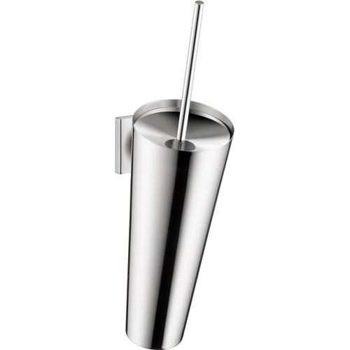 Chrome Toilet Brush with Holder Wall-Mounted