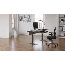 """View Product - Stance 6651 Standing Desk  60""""x24"""" in Black"""