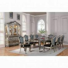ACME Chantelle Dining Table - 60540 - Antique Platinum