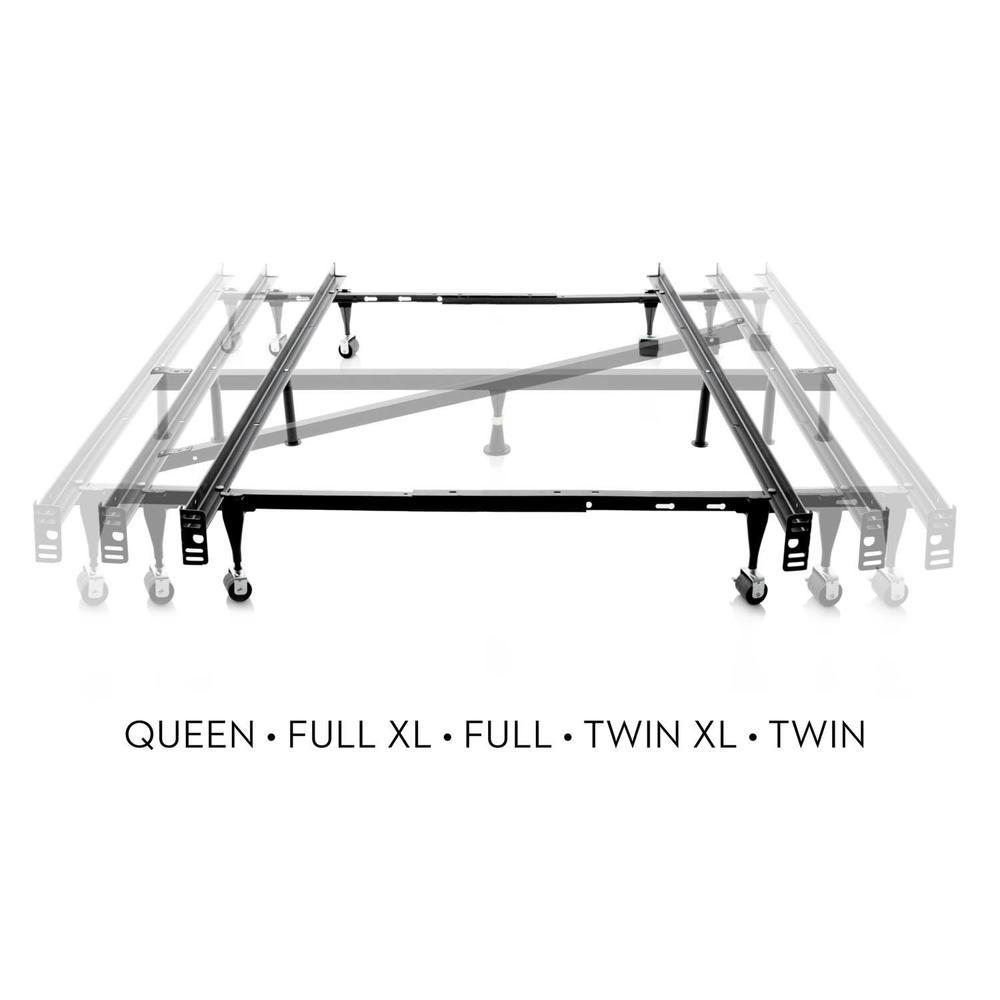 Queen/Full/Twin Adjustable Bed Frame - Wheels