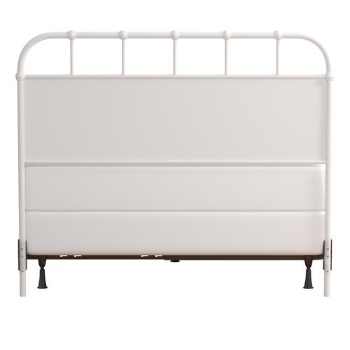 Grayson Full/queen Metal Headboard With Frame, Textured White
