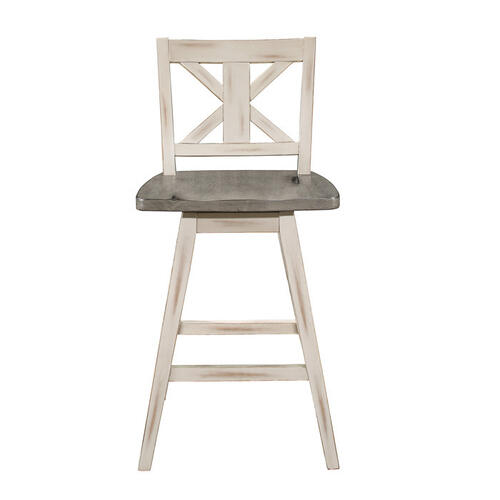 Gallery - Swivel Counter Height Chair, White