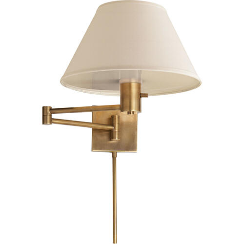 Visual Comfort - Studio Classic 25 inch 75.00 watt Hand-Rubbed Antique Brass Swing-Arm Wall Light