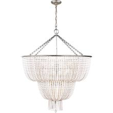 AERIN Jacqueline 12 Light 32 inch Burnished Silver Leaf Two-Tier Chandelier Ceiling Light in White Acrylic
