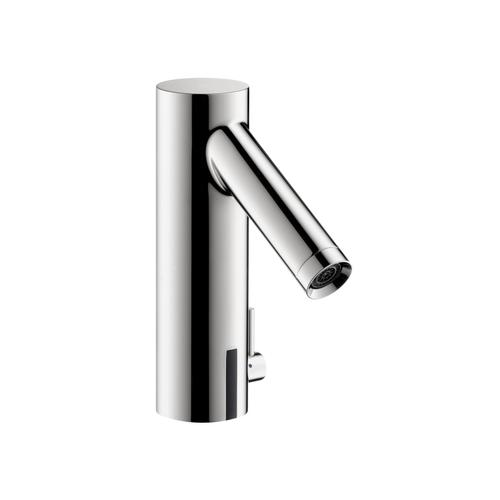 Chrome Electronic basin mixer 90 with temperature control battery-operated